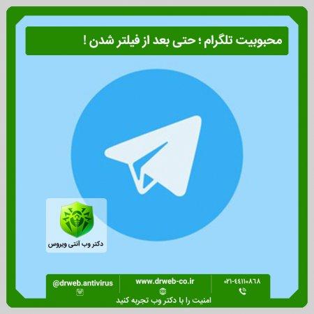 محبوبیت تلگرام حتی بعد از فیلتر شدن